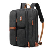Uomo Multifunzione Laptop Backpack Crossbody Borsa