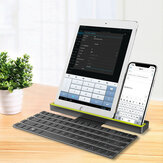 Bakeey R4 Universal Roll-Fold Dual Mode Wireless Bluetooth Keyboard Rechargeable With Stand For Tablets/Mobile Phone 64 keys Compatible With IOS,Android,Windows systems