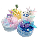 Fango soffice Fango spazzolato Mermaid Tail Starfish Coconut Tree DIY Slime Set Decompression Toy