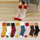 New Socks Women's Wild Color Hot Stamping Ladies Tube Socks Cotton Color Matching Breathable Women's Socks