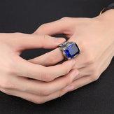 E-commerce Źródło pochodzenia Europa i Ameryka Dominujący zestaw męskiej tytanu ze stali Biżuteria z rubinowym pierścieniem