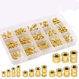 Suleve MXBN6 370Pcs M2 M3 M4 M5 Female Thread Knurled Brass Threaded Insert Embedment Nut Assortment Kit for 3D Printing