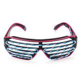 Filo EL a doppio colore freddo LED Glow Occhiali Illumina gli occhiali Bar Party Shutter Halloween