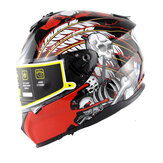 SOMAN Motorcycle Helmet Full Face Double Lens Motor Bicycle Safety Riding Racing Headgear
