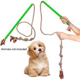 Dog Rod Toy Pet Teaser Chewing Rope Interactive Stick Colorful Rotar Outdoor Extendable Funny Cat Bite Rotary Oral Care Extendable Colorful Pets Toys