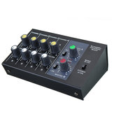 Mini Portable 8 Channel Audio Mixer Live Studio Audio Mixing Console for KTV/Campus Speech