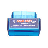 Mini ELM327 bluetooth V1.5 OBD2 II Car Diagnostic Tool Auto EOBD Scanner para Android Phone Blue