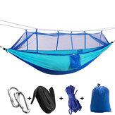260x140cm Outdoor dubbele hangmat camping hangmat met klamboe