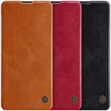NILLKIN Flip Bumper Odporny na wstrząsy Gniazdo kart Pełna pokrywa PU Skóra Vintage Etui ochronne dla Samsung Galaxy Note10 Lite
