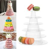 6 Tier Round Dessert Stand Cupcake Holder Clear Acrylic Birthday Wedding Decorations