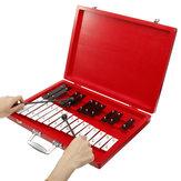 Cadeau éducatif de percussion d'instrument de musique en bois de xylophone de Glockenspiel de 25 notes pour des enfants