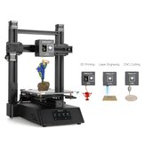 Creality 3D® CP-01 3-in-1 DIY 3D Printer Modular Machine Kit Support Laser Engraving / CNC Cutting 200*200*200 Printing Size With 4.3inch Screen/Power Resume/Removable Glass Plate/Intelligent Leveling