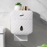 ماء الحائط الأنسجة مربع متعددة الوظائف تخزين ورق التواليت الجرف حامل اكسسوارات الحمام