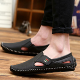 Cuero Soft Suela Casual Walking Driving Flats