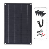20W ETFE Solar Panel Field Vehicles Emergency Charger WIth 4 Protective Corners Single USB+DC
