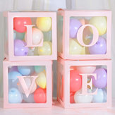 4Pcs DIY Transparent Balloon Box For Boy Girl Baby Shower Wedding Birthday Decorations