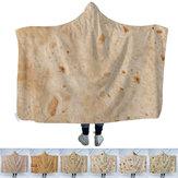マルチサイズのフード付きブランケットトルティーヤテクスチャSoftフリースベッドソファキルト毛布