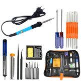 60W 110V / 220V elettrico Saldare kit di utensili per saldatura di ferro Saldare filo Pinzetta