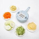 (6 In) Manual multifuncional Processador de disco de cortador de corte de batata de frutas e legumes Máquina de cortar fatias de cozinha Slicer Tools Set Aço inoxidável