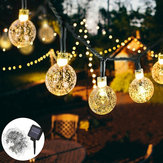 10M 2 modalità 80LED Bubble Ball solare Fairy String Light Outdoor Indoor Garden Party lampada Decorazioni per l'albero di Natale Luci