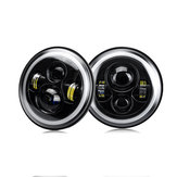 2Pcs 7 Inch Car Round LED Headlights Head Turn Signal Lamps DRL High/Low Beam Waterproof IP67 For Jeep Wrangler