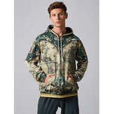 Mens Fashion World Map Abenteuer Drucken Sweatshirt