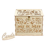 Wedding Card Post Wooden Box Collection Gift Card Boxes with Lock Patry Decor