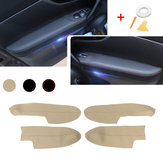 4Pcs/ Set Microfibre Leather Car Door Armrest Cover For Nissan Qashqai 2016-2019