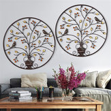 Vogels Boom ijzeren sculptuur Ornament Home kamer muur opknoping decoraties