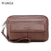 Men Vintage Genuine Leather Large Capacity Crossbody Bag