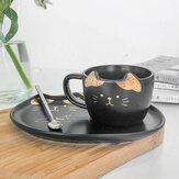 200 ml Katze gold keramik kaffeetasse gericht restaurant mit gericht wasser tasse büro tasse tee tasse
