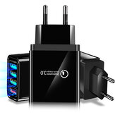 Marjay 4 USB QC3.0 3A Adaptateur de chargeur USB intelligent à charge rapide pour iPhone XS 11 Pro Huawei P30 Pro Mate 30 5G 9Pro S10 + Note 10 5G