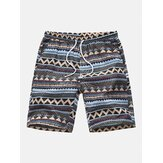 Heren Zomer Strand Bloemenprint Hawaiiaanse Casual Shorts