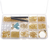 480Pcs Jewelry Making Kit DIY Earring Findings Hooks Beads Mixed Handcraft Accessories