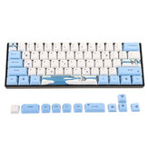 MechZone 72 Keys Penguin Keycap Set OEM Profile PBT Sublimation Keycaps for Mechanical Keyboard