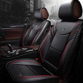 6D Full Surround Black & Red Front + Rear PU Leather Coche Juego de fundas de asiento para 5 asientos Coche