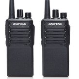 2pcs Baofeng BF-V9 Mini Talkie-walkie USB Charge Rapide 5W UHF 400-470MHz Ham CB Portable Radio bidirectionnelle