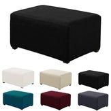 Slipcover elástico do protetor do otomano do quadrado da tampa do banquinho da tela para o sofá home