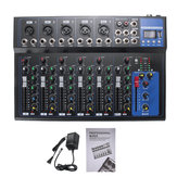 7 Channel Digital Microphone Sound Audio Mixer Console 48V Phantom Power Professional Karaoke Audio Mixer Amplifier With USB