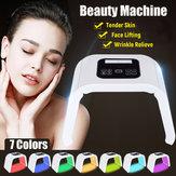 7 اللون LED ضوء علاج الجلد تجديد PDT مكافحة الشيخوخة آلة جمال الوجه