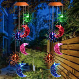 Campanas de viento colgantes Solar Powered luz LED Color Impermeable Garden Home Decor