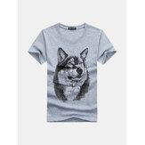 Impressão engraçada do lobo 3D Camisetas