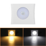 6LED Wireless PIR Motion Sensor Infrared Night Light Cabinet Stair Wall Lamp