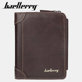 Baellerry Men Faux Leather Causal Business Zipper Coin Wallet
