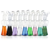 Mini Glass Water Pipe Borosilicate Glass Black/Emerald/Green/Purple/Pink/Clear/Blue/Yellow