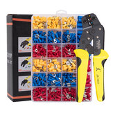 PARON JX-1601-01T AWG24-14 Alicate Crimper Fio Kit de ferramentas Crimper Alicate de catraca Ferramentas manuais com terminais de 500 unidades