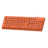 AJAZZ DOUYU DKS100 104 keys USB Wired Monochromatic Light Gaming Keyboard for Desktop PC Computer Laptops