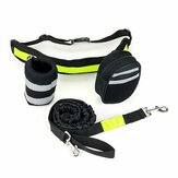 Handsfree Hond Tractietouw Outdoor Walking Running Taille Riem Tas Pouch Set