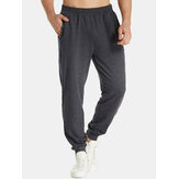 Mens Jogger Casual Sports Sweatpants Elastic Tapered Trousers Pants