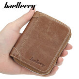 Baellerry Men Cardigan con cerniera multi-card in ecopelle Borsa